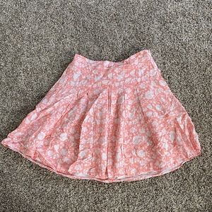 Old Navy   Pink Tropical Mini Skirt